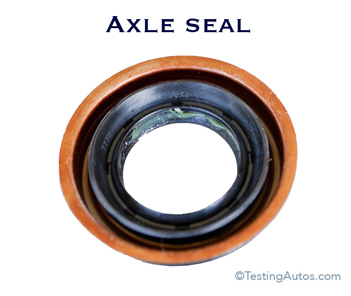 When does the axle seal need to be replaced in a car?