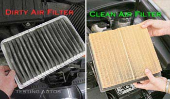 Dirty vs clean engine air filter