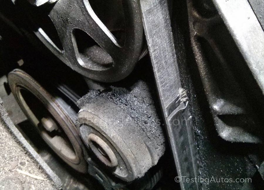 oil soaked drive belt as well 2009 09 06 162358 92 buick lasebre crank pullery sensor likewise CRACKED SERPENTINE BELT1 together with 2012 04 23 182820 t1 moreover tdisline 479 together with large also 366176d1436805629 bad ac  pressor breaks serpentine belt with ac likewise maxresdefault further Serpentine Belt problems cleveland ga 300x254 furthermore image 01 likewise broken drive belt. on what happens when the serpentine belt breaks