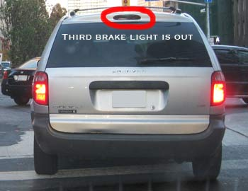 Third brake light is out