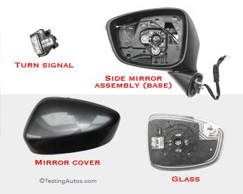 Side mirror parts
