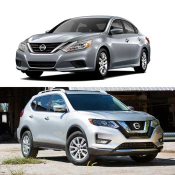 Nissan Rogue and Nissan Altima